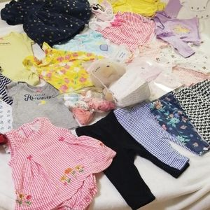 Bundle of name brand NB-3 months girl clothes